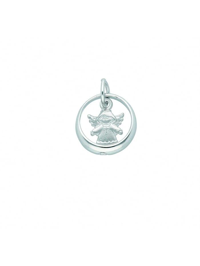 1001 Diamonds Damen Silberschmuck 925 Silber Anhänger Taufring mit Zirkonia Ø 11,3 mm, silber