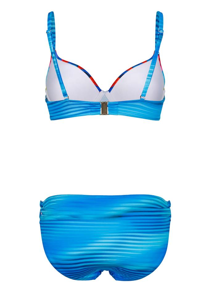 Bikini med reglerbara axelband