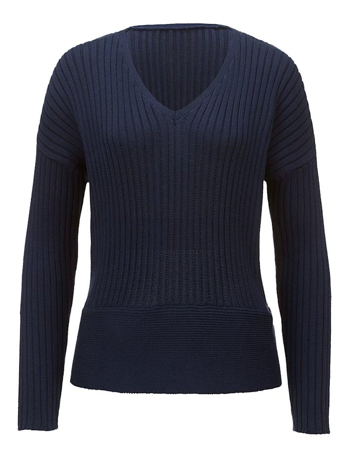 Alba Moda Pullover aus hochwertiger Pima Baumwolle, Marineblau