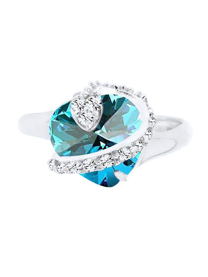Ring Herz Swarovski® Kristalle 925 Sterling Silber