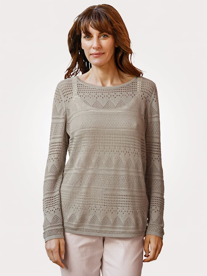Jumper in ajour knit