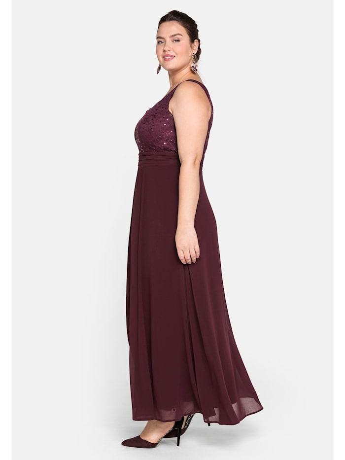 Sheego Kleid mit floraler Spitze
