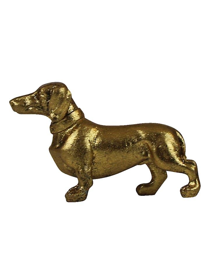 AM Design Deko-Dackel, Goldfarben