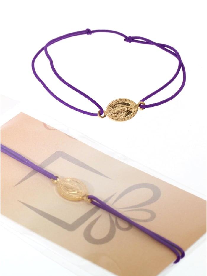 1001 Diamonds Armband 925 Silber vergoldet, lila