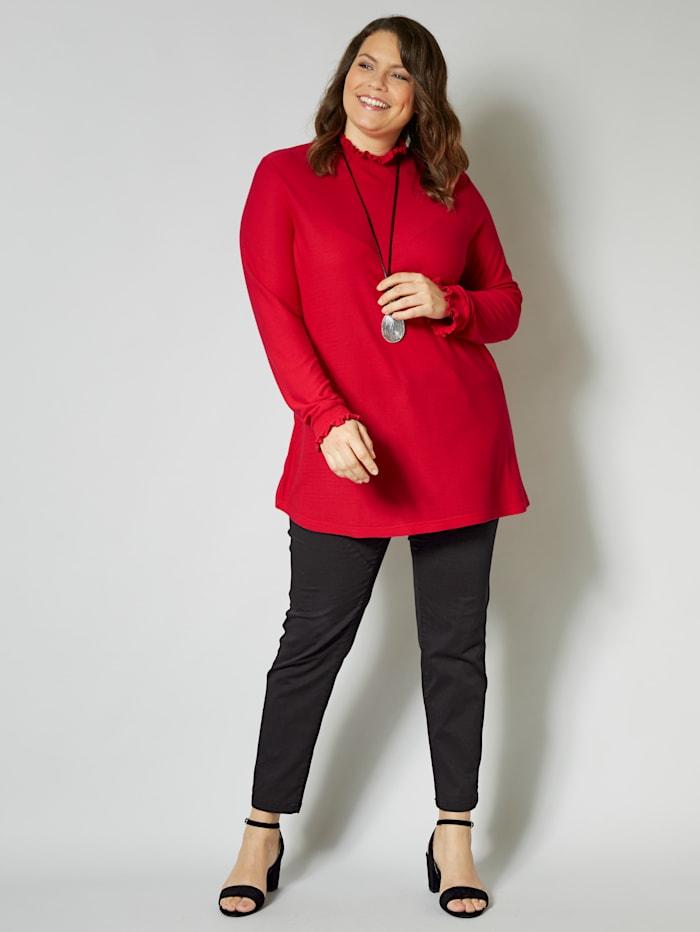 Sara Lindholm Shirt mit Stehkragen, rot