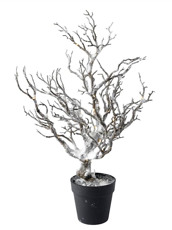 LED Dekorationsbaum mit Schnee