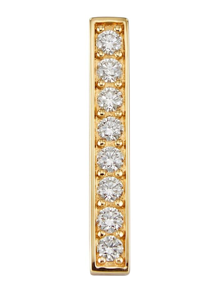 Amara Diamants Pendentif avec brillants purs à la loupe, Blanc
