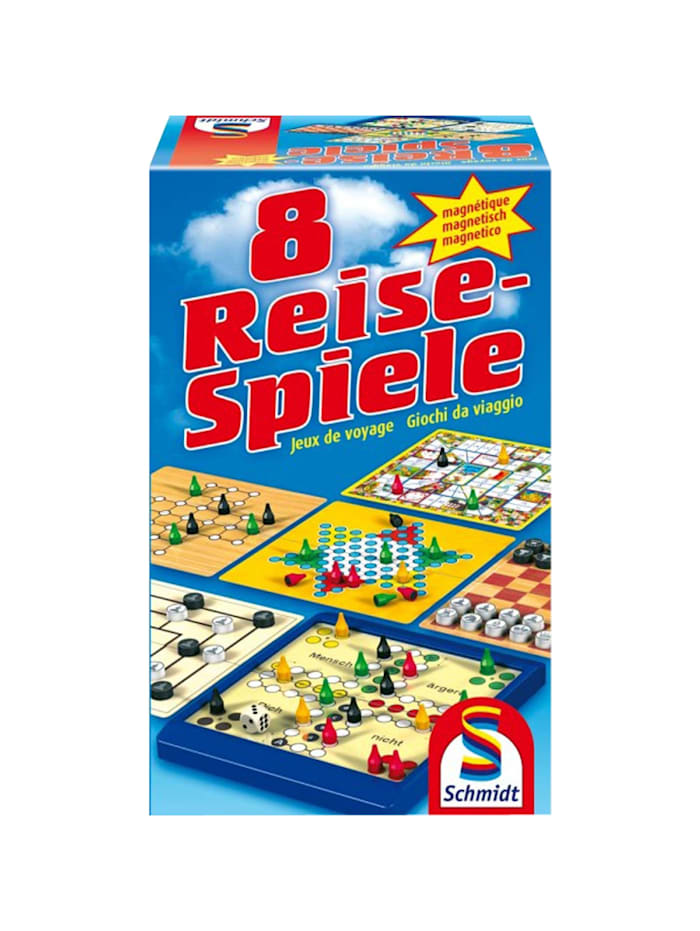 Brettspiel Spielesammlung: 8 Reise-Spiele