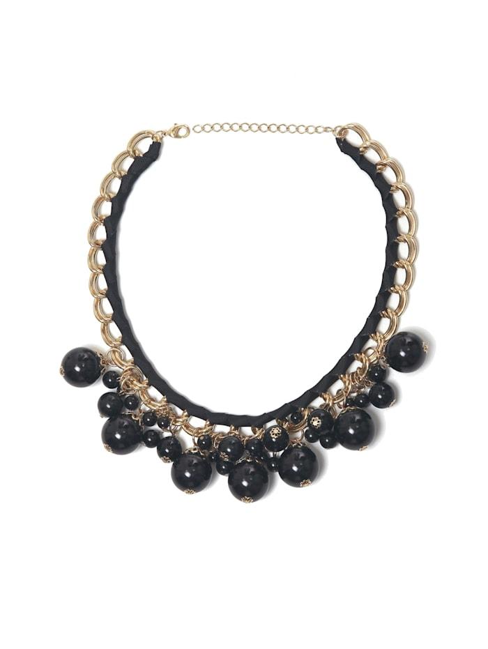 Collezione Alessandro Kurze Kette Trixi mit unterschiedlichen Perlen, schwarz