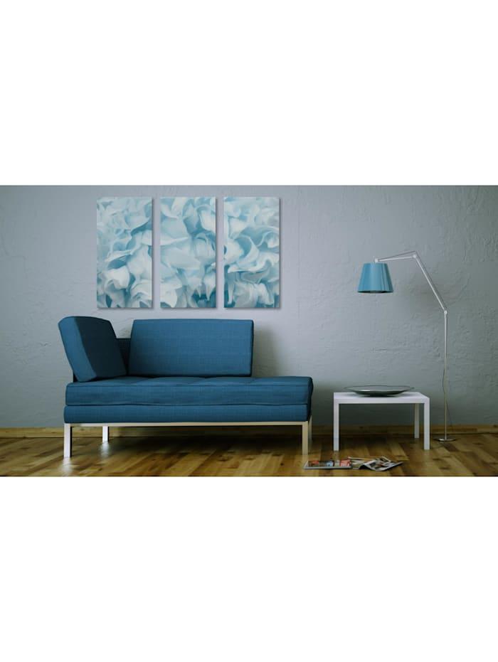 Wandbild Azalee in blau