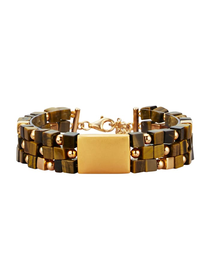 Amara Farbstein Armband aus Tigerauge, Braun