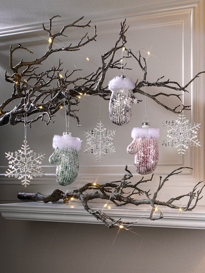 Globen Lighting Lot de 3 suspensions flocons de neige, Blanc