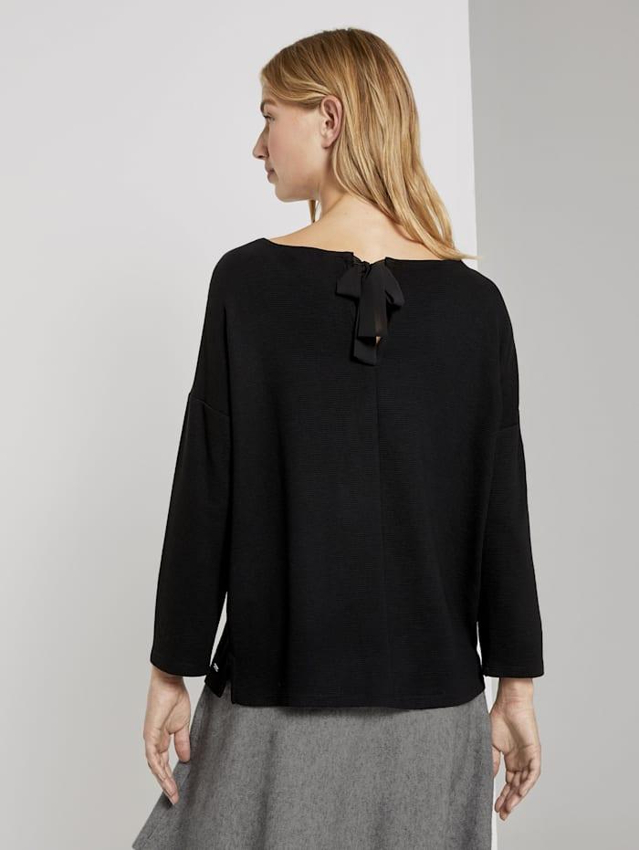 Strukturiertes Boxy-Shirt