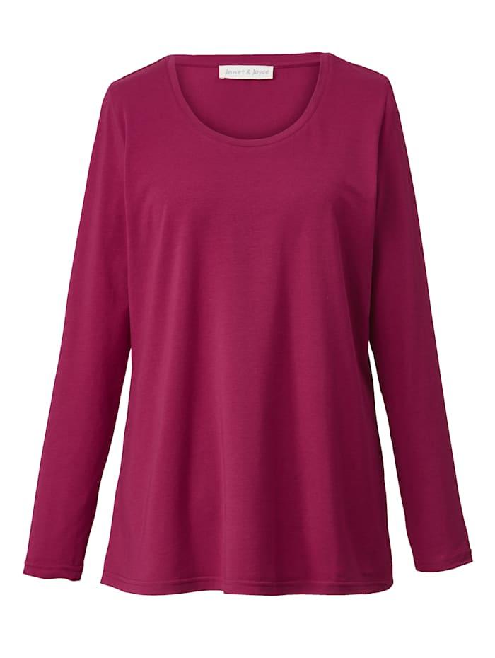 Janet & Joyce Basic shirt, Berry