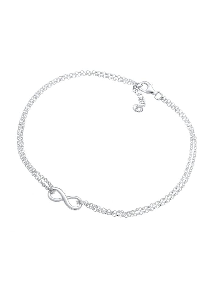 Fußschmuck Fußkettchen Infinity Symbol Zeichen 925 Silber