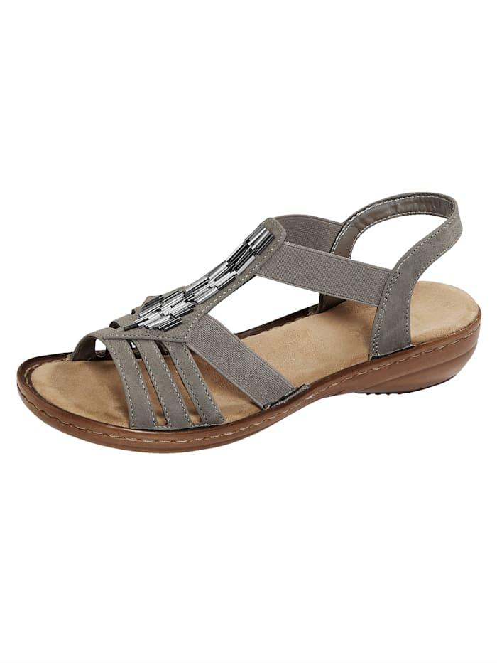 Rieker Sandale mit attraktiver Applikation, Taupe