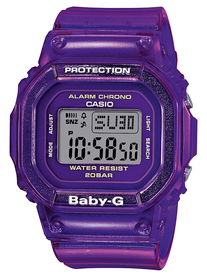 Casio Baby-G Urban Damenuhr Violett, Silberfarben