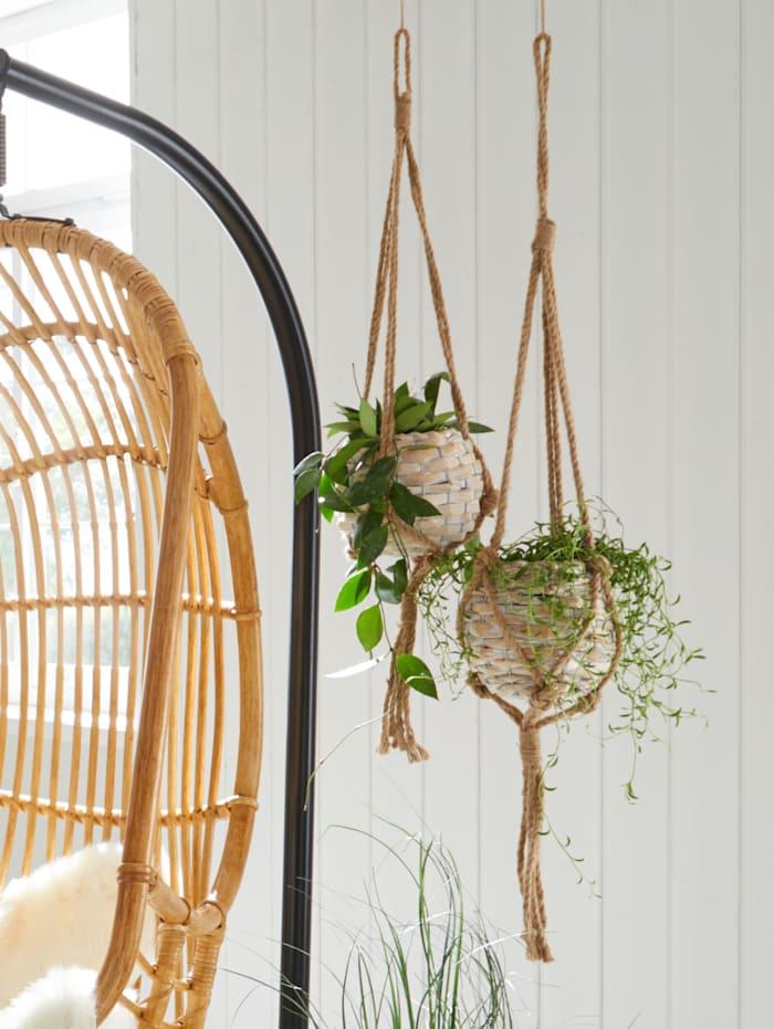 Set van 2 hanging baskets, Bruin