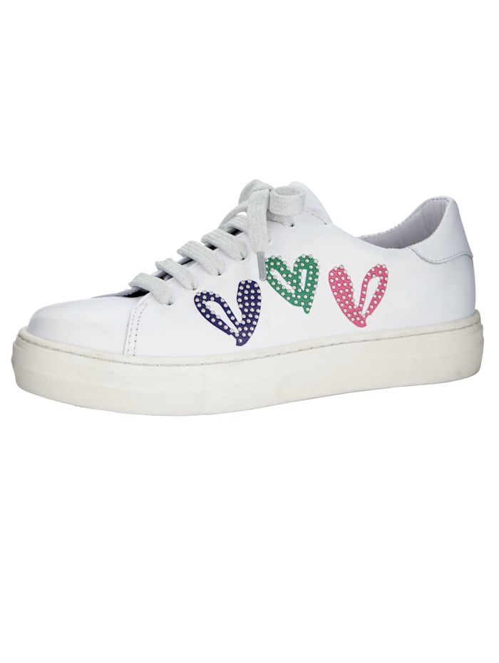 Trainers with beautiful heart motif