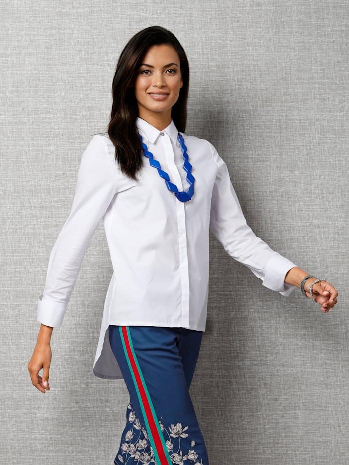 AMY VERMONT Bluse mit Hemdkragen, Weiß