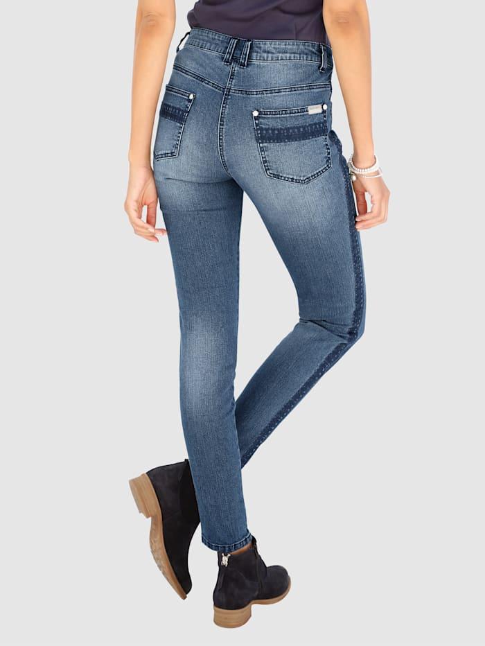 Jeans Laura Extra Slim - mit Stickerei