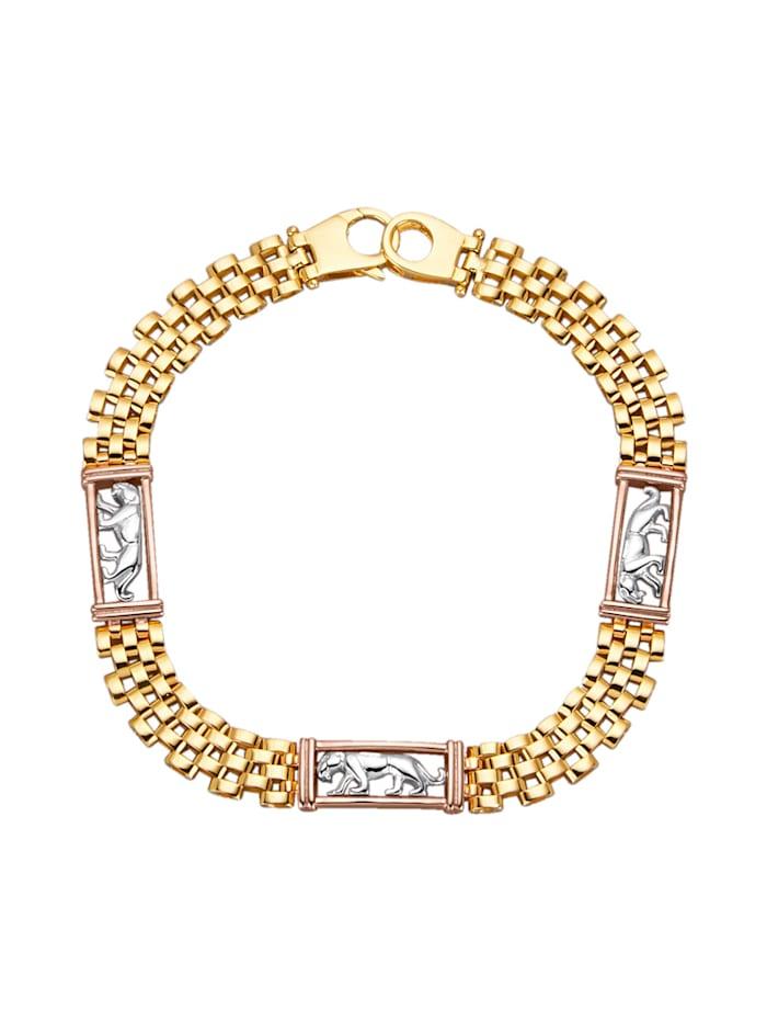 Diemer Gold Armband In Gold 585, Gelbgoldfarben