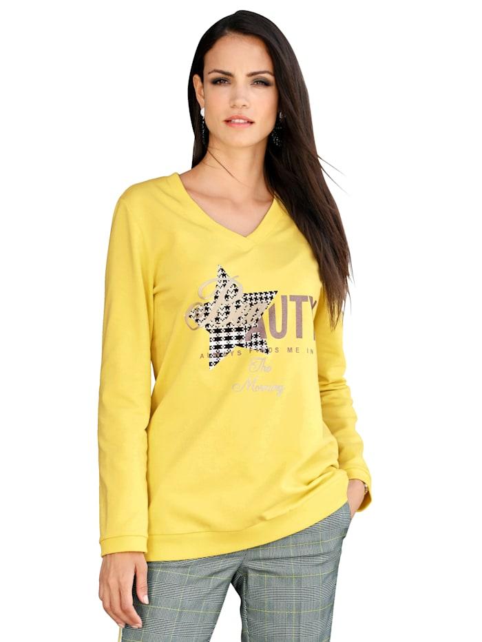 Sweatshirt mit Motiv im Vorderteil