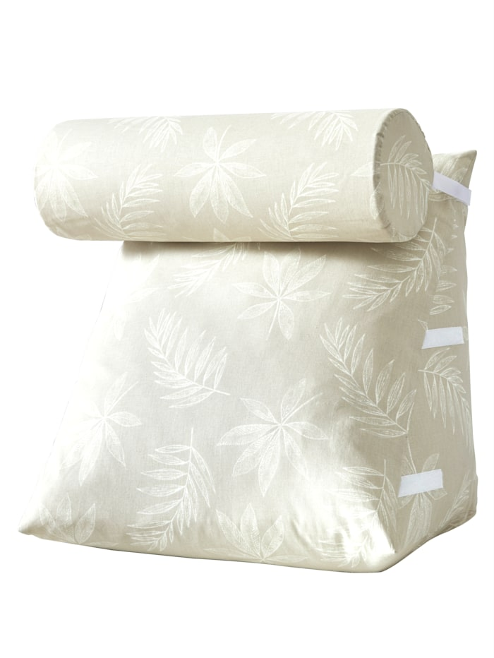 K & N Schurwolle Rückenkissen mit Nackenrolle, weiß
