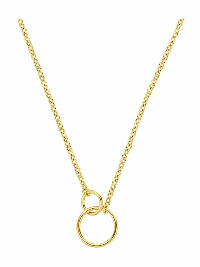 Kette mit Anhänger für Damen, Sterling Silber 925 vergoldet