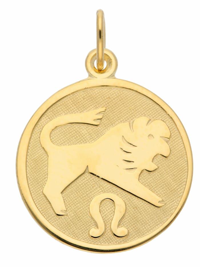 1001 Diamonds 1001 Diamonds Damen & Herren Goldschmuck 333 Gold Sternzeichen Anhänger Löwe Ø 16 mm, gold