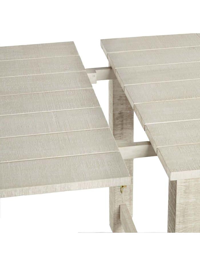 Living Outdoor-Tischseitenteile, 2-tlg., Hellgrau/Weiß