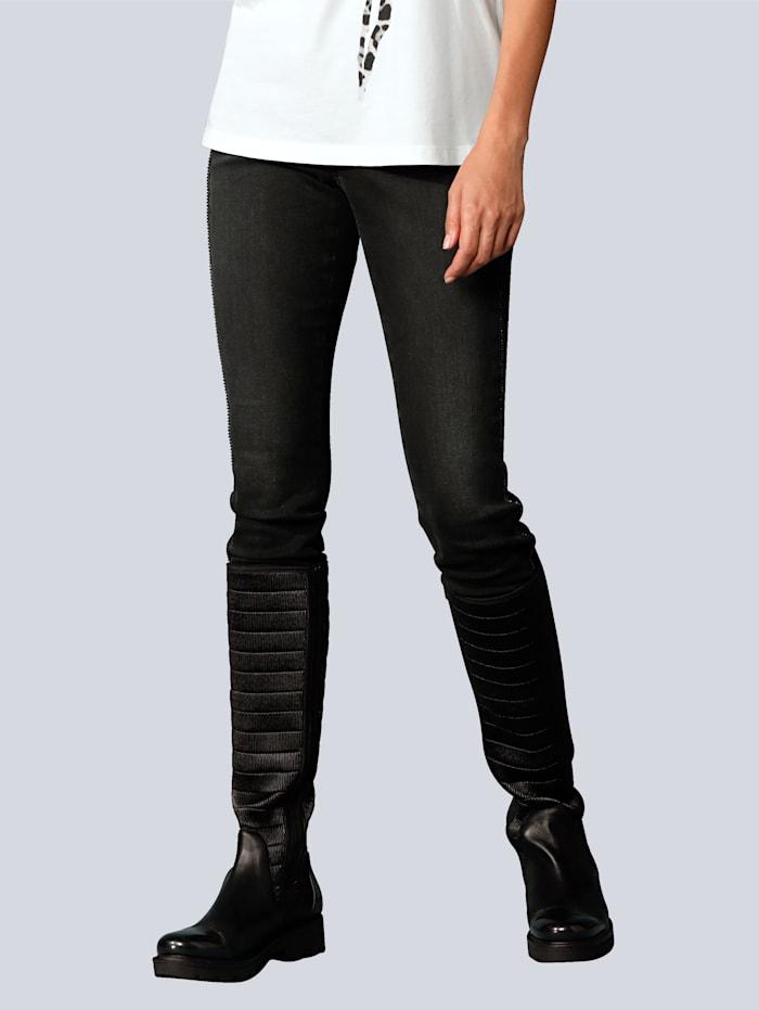 CAMBIO Jeans mit Glitzergalon, Black stone
