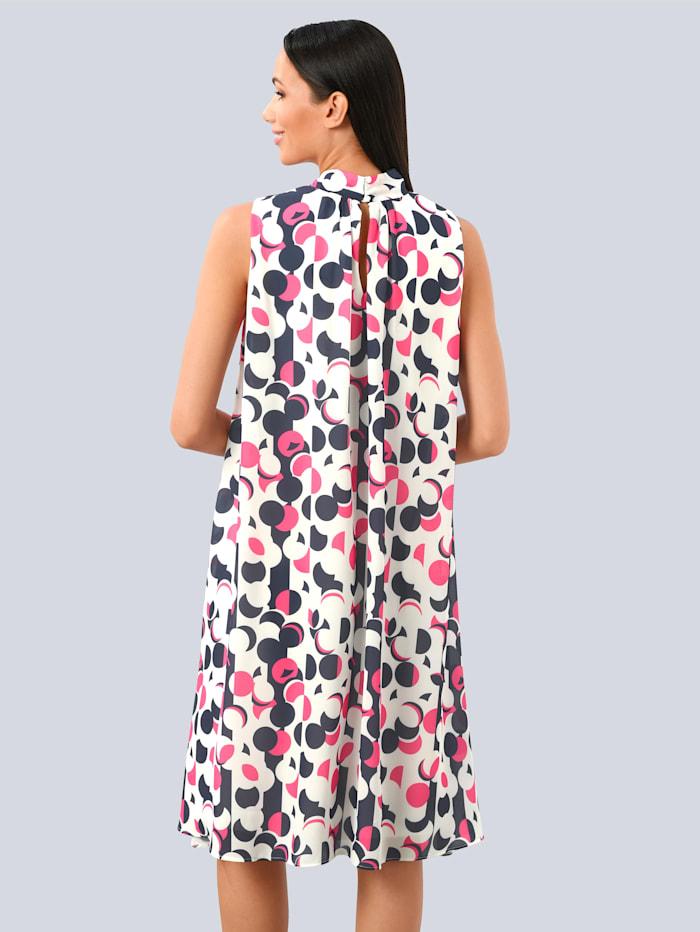 Klänning med prickigt mönster