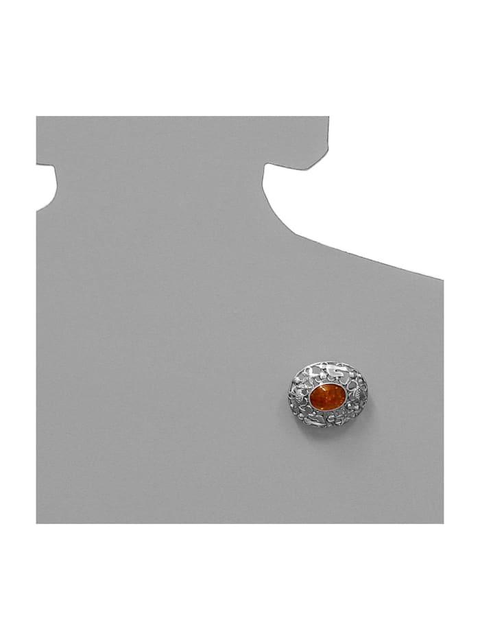 Brosche - Fischland 36x30 mm - Silber 925/000 - Bernstein