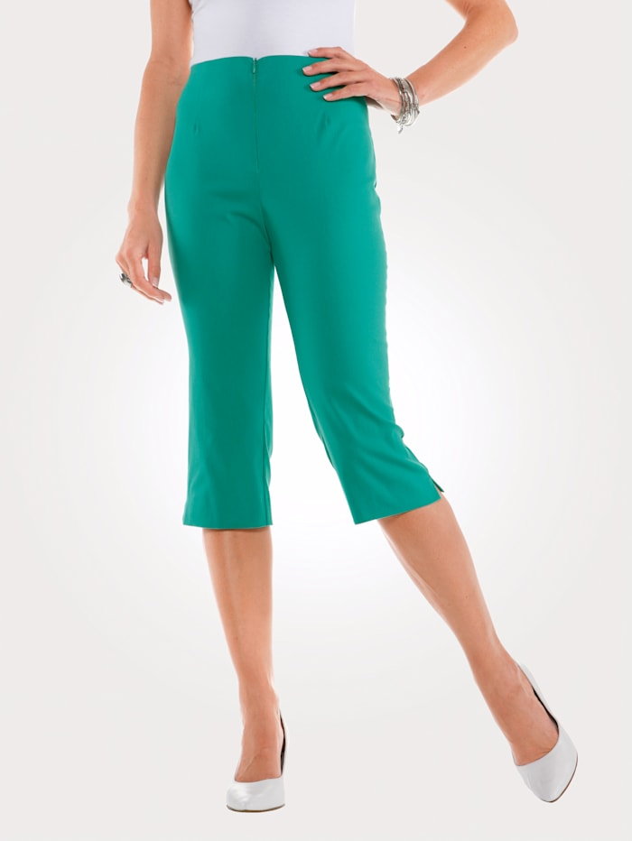 MONA Caprihose mit Baumwolle Basic, Smaragd