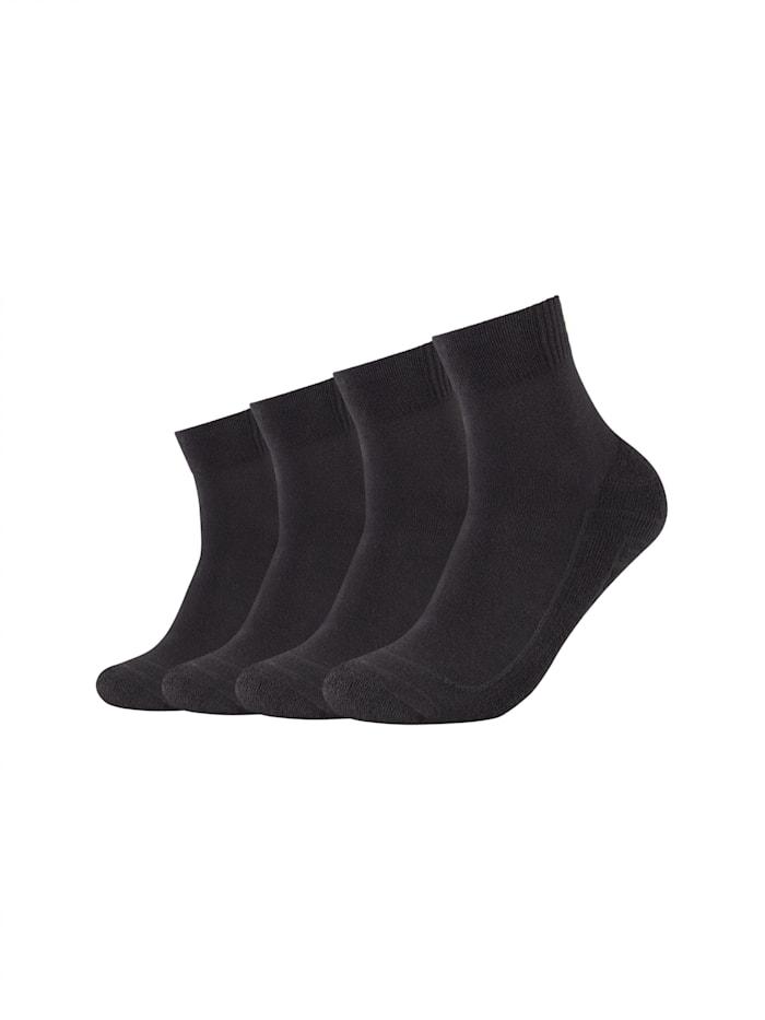 Skechers Kurzsocken 4er Pack in einfarbigem Design, black