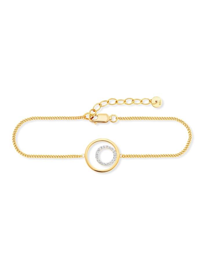 CAI Armband 925/- Sterling Silber Topas 17+3cm Glänzend, gelb