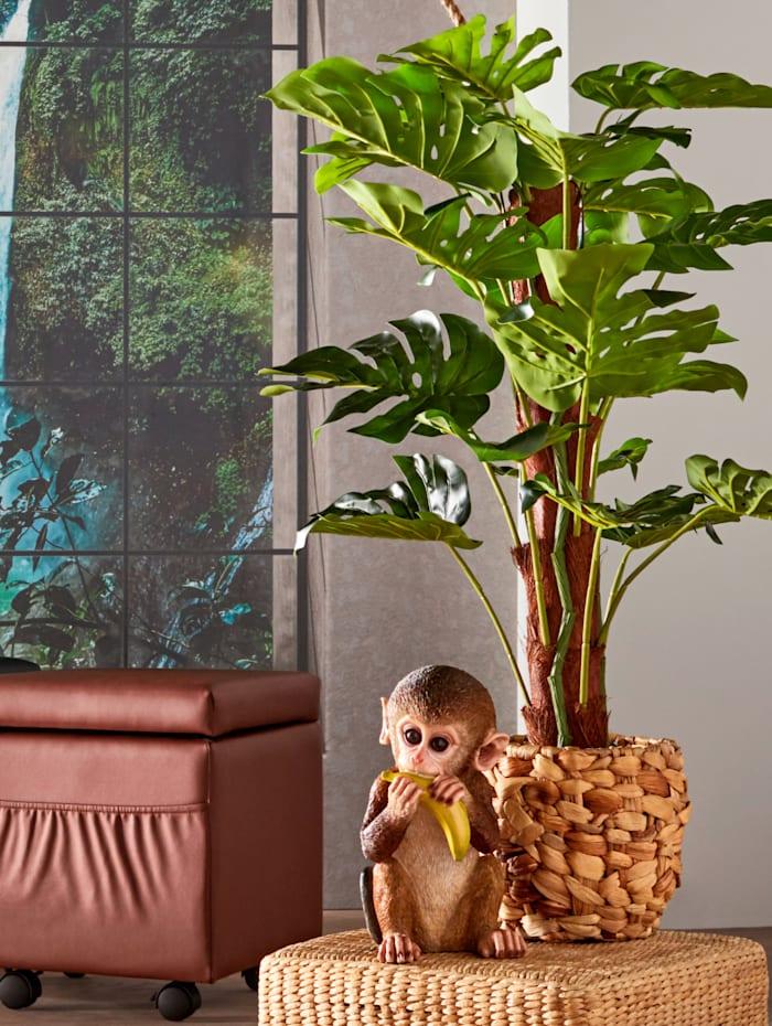 """Eläinhahmo """"Banaania syövä apina"""" sisä- ja ulkokäyttöön, ruskea"""