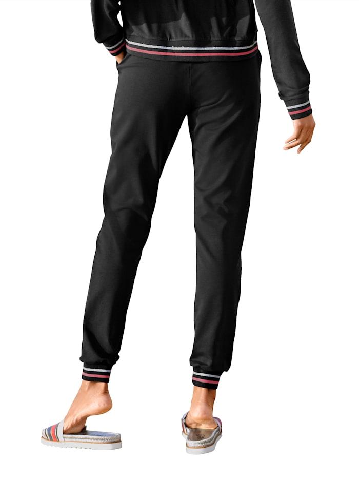 Pantalon de jogging de coupe classique pantalon en molleton à bande rayée