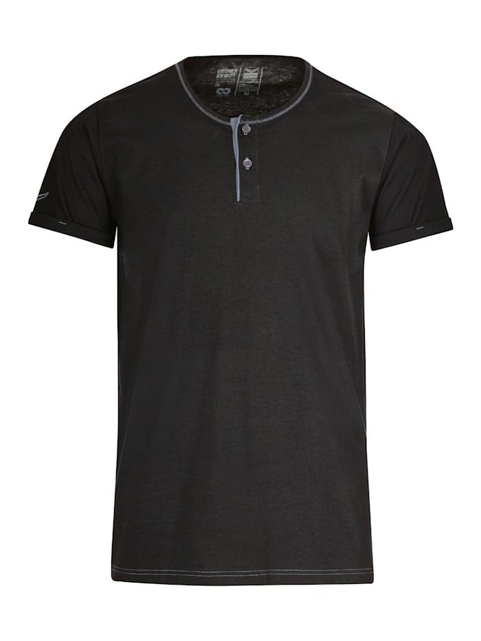 Herren T-Shirt Knopfleiste aus Biobaumwolle