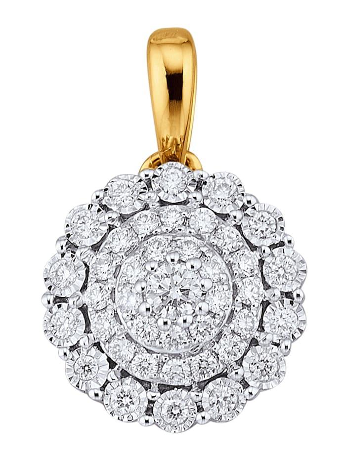 Amara Diamants Pendentif avec brillants, Blanc