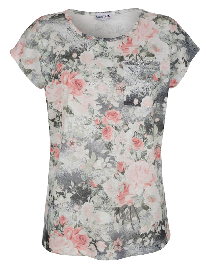 Shirt in floralem Dessin