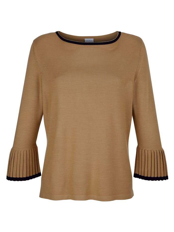 Pullover mit Plissee-Ärmeln