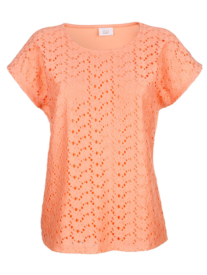 Shirt met bloemenkant