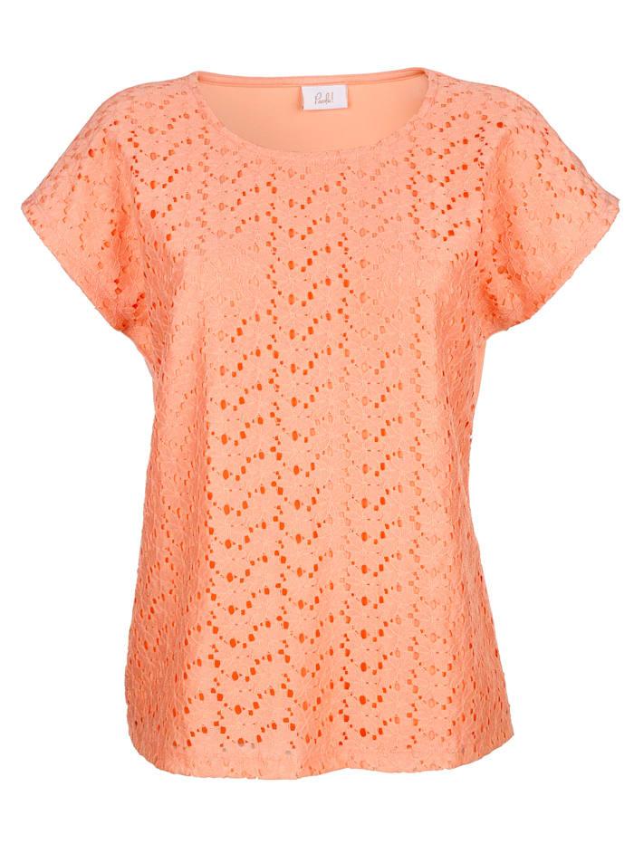 T-shirt à dentelle florale