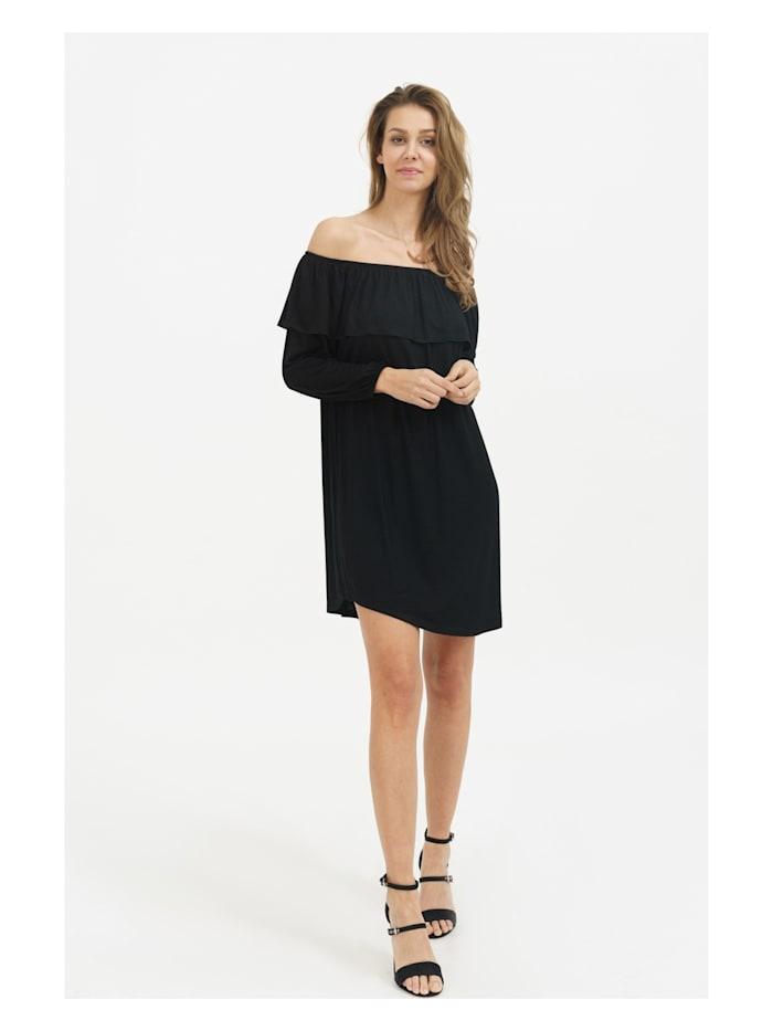 trueprodigy Kleid Haper mit anziehendem Carmen-Ausschnitt, 2999-Black