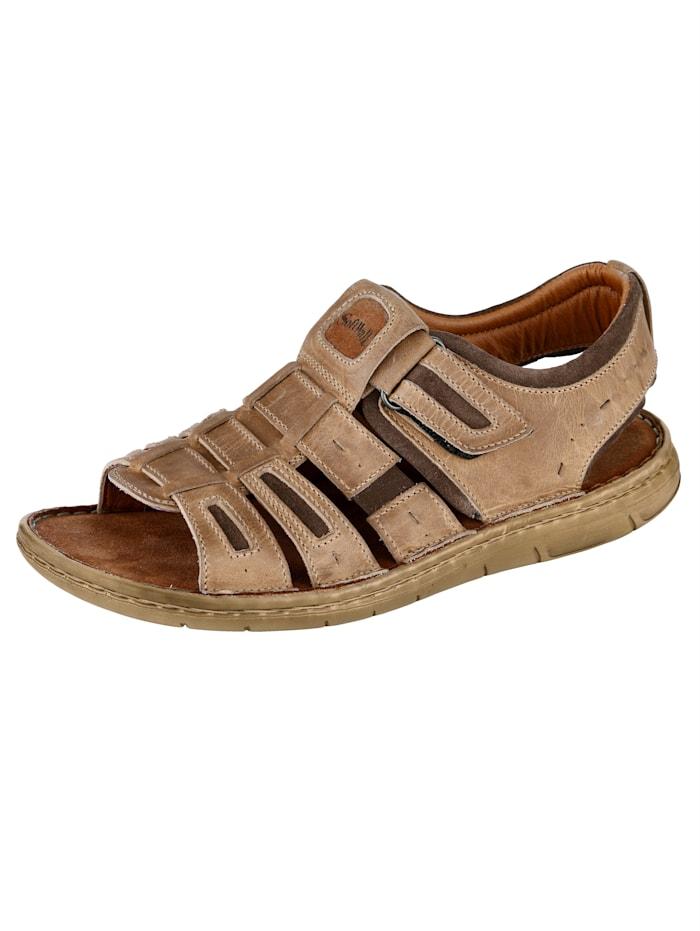 Sandale mit Dämpfungssystem, Hellbraun