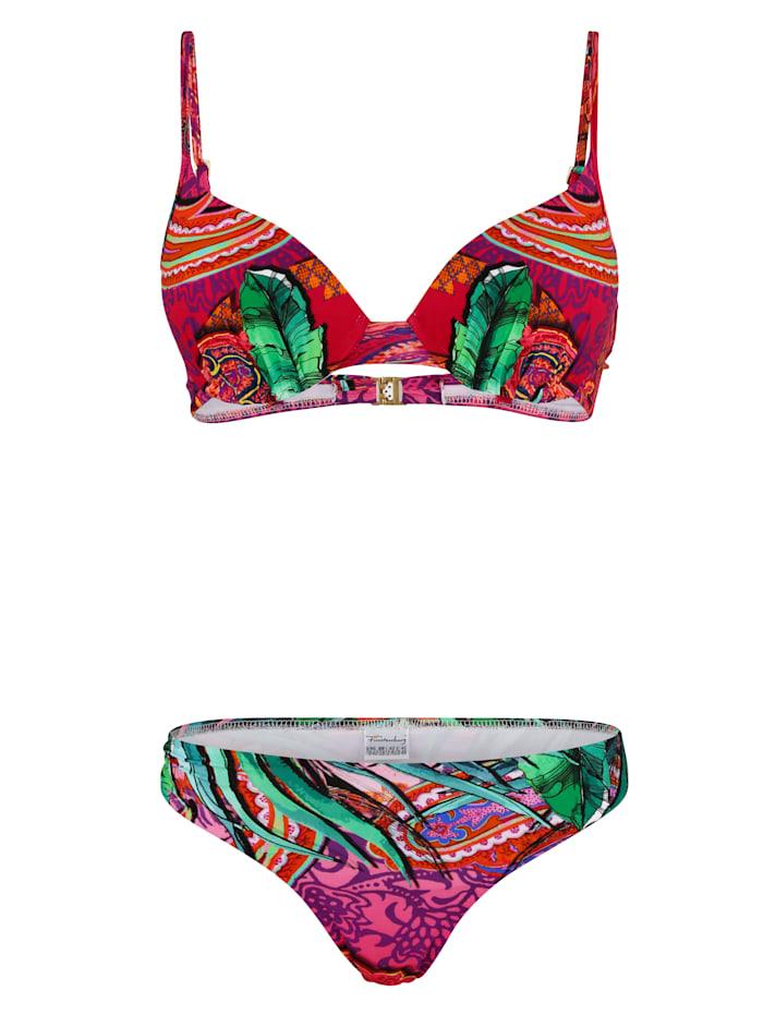 Fürstenberg Bikini en coloris harmonieux, Rose vif