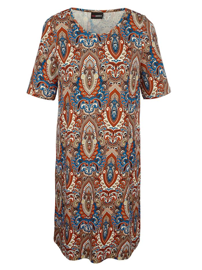 Longshirt met vrolijk gekleurd paisleypatroon