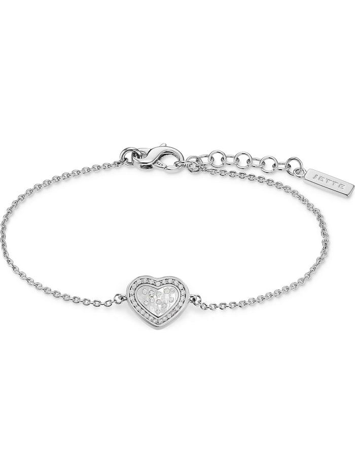 Jette JETTE Silver Damen-Armband 925er Silber 36 Zirkonia, silber